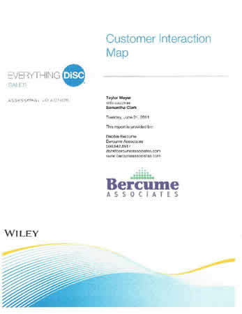 Everything DiSC® Sales Customer Interaction Map Report